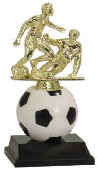 SOFT SPINNING RISER SOCCER TROPHY