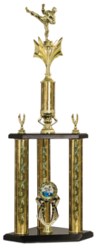 3 POST MARTIAL ARTS TROPHY