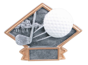 SMALL DIAMOND PLATE GOLF RESIN