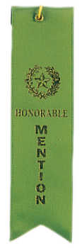 HONORABLE MENTION GREEN CARDED RIBBON