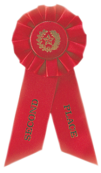 2ND PLACE RED ROSETTE RIBBON