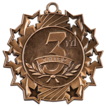 3RD PLACE TEN STAR MEDAL