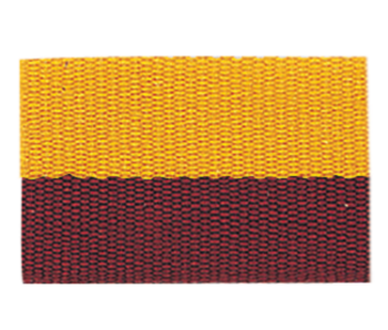 MAROON/GOLD NECK RIBBON WITH SNAP CLIP