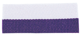 PURPLE/WHITE NECK RIBBON WITH SNAP CLIP