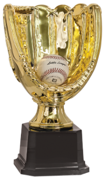 Bright Gold Glove Trophy