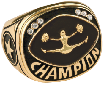 Gold Cheer Champion Ring