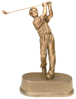 Antique Gold Male Golf Award