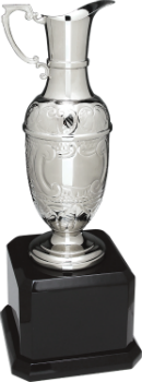 Silver Swatkins Hand Chased Claret Jug with Royal Piano Finish Base