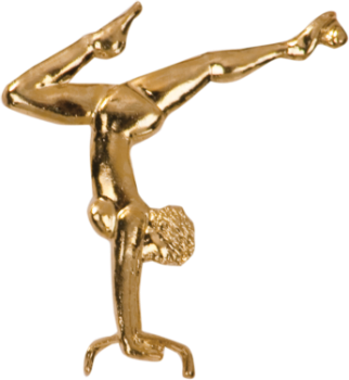 Female Gymnast Chenille Pin