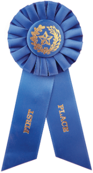 1st Place Blue Rosette Ribbon