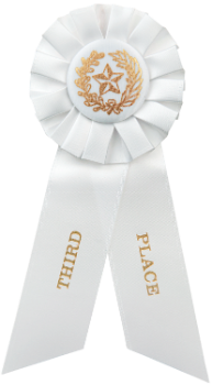 3rd Place White Rosette Ribbon