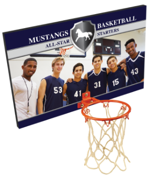 Large Custom Color Basketball Hoop Plaque