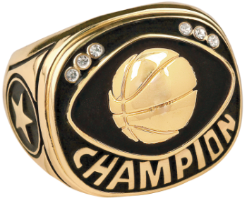 Gold Basketball Champion Ring