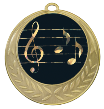 Antique Gold Music Medal