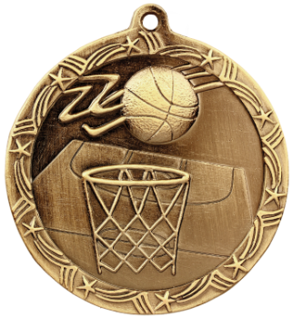 Basketball Shooting Star Medal