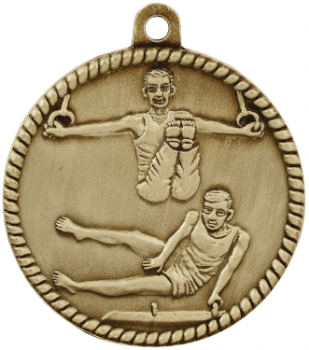 Male Gymnastics High Relief Medal