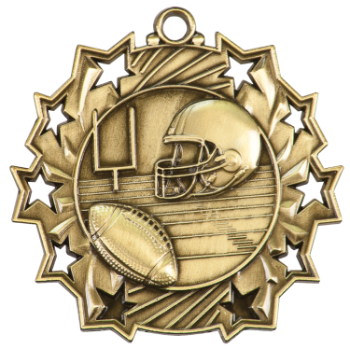 Football Ten STar Medal
