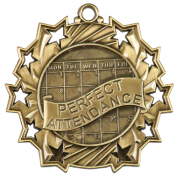 Perfect Attendance Ten Star Medal