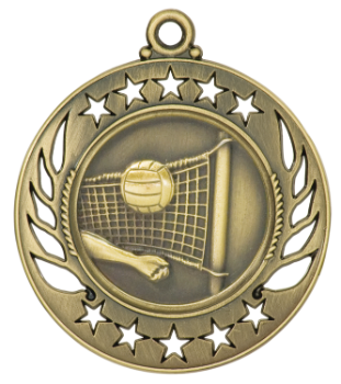 Volleyball Galaxy Medal