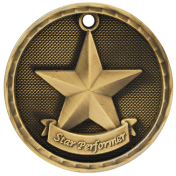 Star Performer 3D Medal