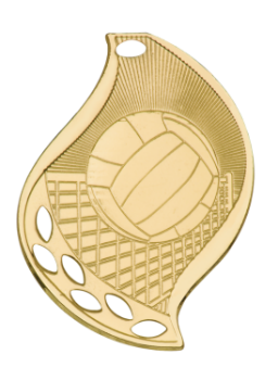 Volleyball Flame Medal