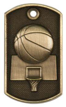 Basketball 3D Dog Tag