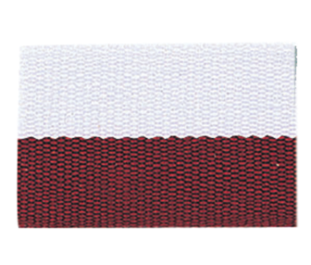 Maroon/White Neck Ribbon with Snap Clip