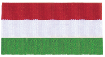 Red/Green/White Neck Ribbon with Snap Clip