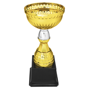 Gold/Silver Completed Metal Cup with Black Weighted Plastic Base