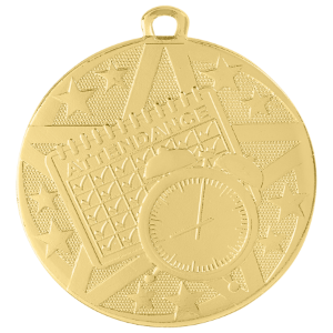 Perfect Attendance Superstar Medal