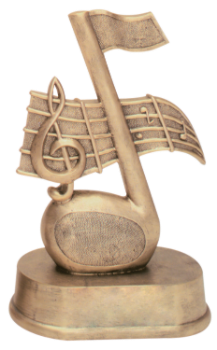 Antique Gold Music Resin Award