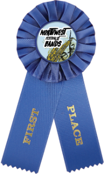 1st Place Custom Color Rosette Ribbon