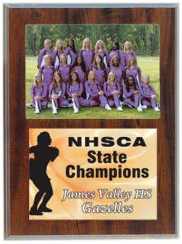 Cherry Finish Plaque with 5 x 7 Photo