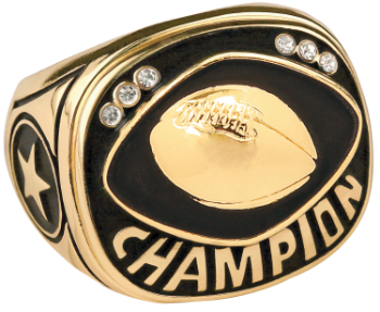 Gold Football Champion Ring