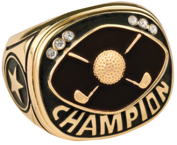 Gold Golf Champion Ring