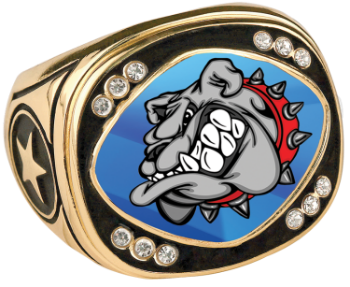 Custom Champion Ring with Bling