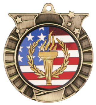 Torch & Flag Victory Medal