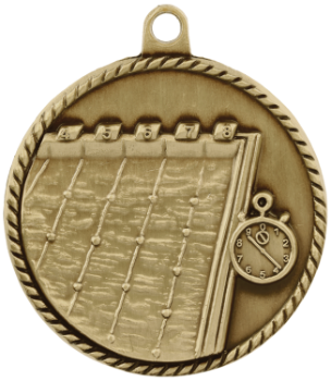 Swimming High Relief Medal