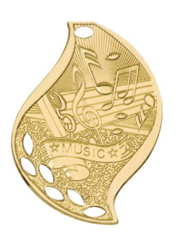 Music Academic Flame Medal