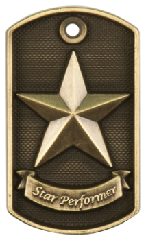 Star Performer 3D Dog Tag