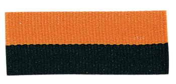 Black/Orange Neck Ribbon with Snap Clip