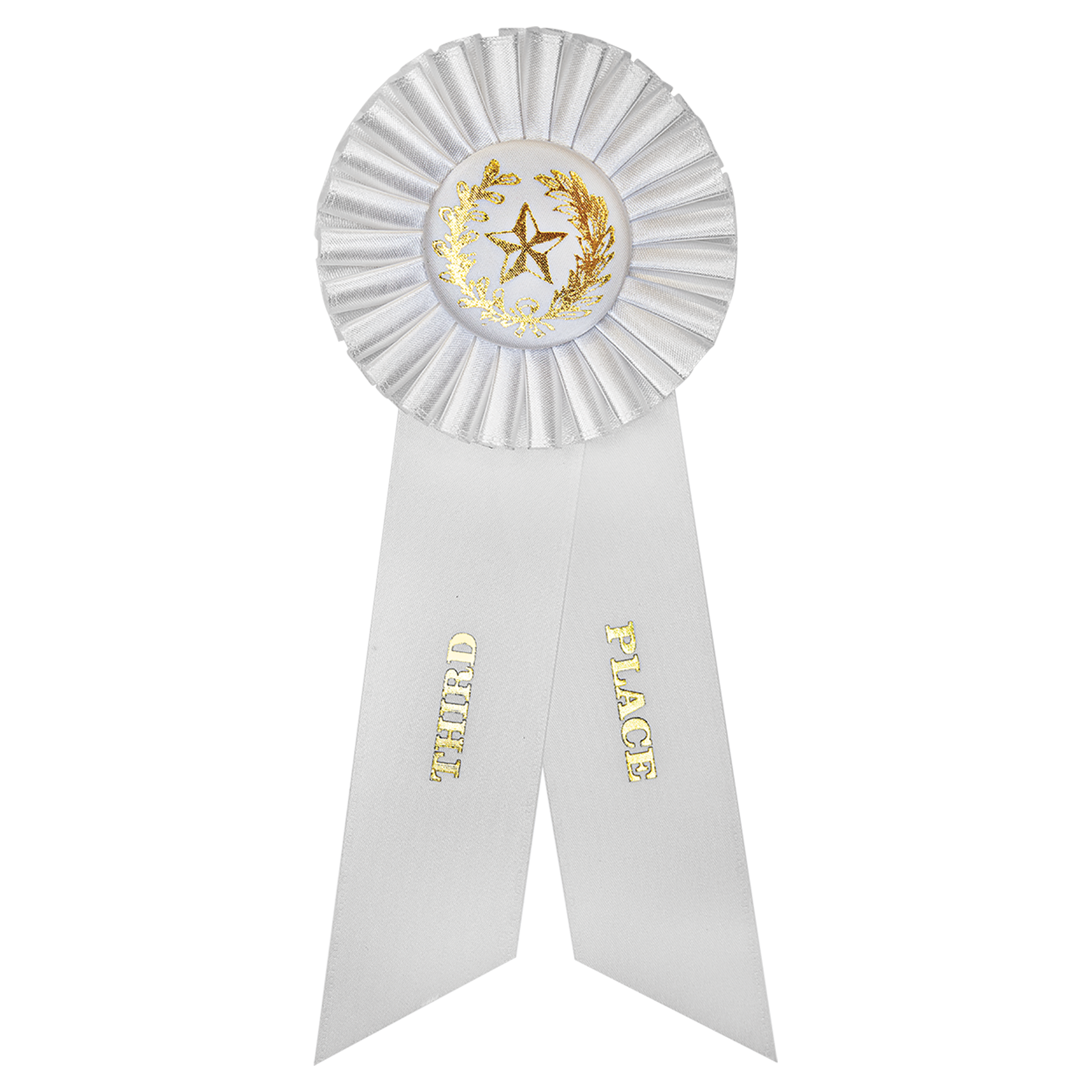 White 3rd Place Rosette Ribbon